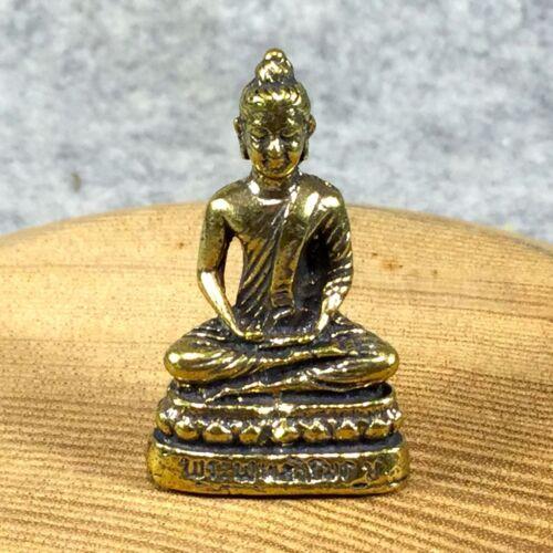 Miniature Figurine Brass Statue of Buddha Metalwork Art Decor #284