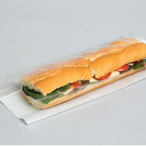 STRIP WINDOW BAGUETTE BAGS 4/'/'X6/'/'X14/'/' TAKE AWAY FOOD BAGS 500 PIECES 838050