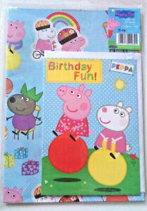 Peppa Pig Kids Gift Wrap Amp Card Pack 1 Wrapping Paper Sheet 1 Tag Birthday Fun Ebay