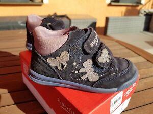 Details zu Gr. 23 Top Superfit Leder Halbschuhe Schuhe Mädchen fast wie neu Klettverschluss