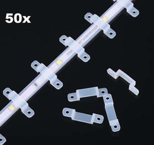 50x Befestigungs Clips aus stabilem Kunststoff für Lichterkette//LED Streifen