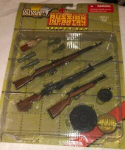The-Ultimate-Soldier-WWII-Russian-Infantry-Weapons-Set-1-6-12-MOC-21st-Century
