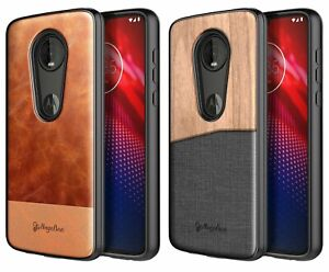 lowest price 2c7d4 ddaca Details about For Motorola Moto Z4 | Rugged Shockproof Hybrid Phone Cover  Case +Tempered Glass