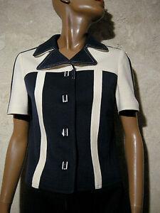 Chic Blouson 38 Jacket 1960's Scooter 1960 36 Vintage Top Vtg Twiggy Jersey Mod ZpfqgOZw