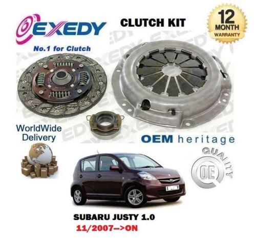 FOR SUBARU JUSTY 1.0 R M300 1KR-FE 11//2007-/> 3 PIECE EXEDY CLUTCH KIT COMPLETE