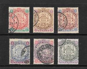 1896-QUEEN-VICTORIA-SG29-SG30-SG31-SG32-SG33-SG34-Fine-Used-Rhodesie