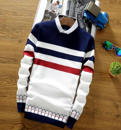 Men Korean Cardigan Jacket Jumper Knit Pullover Coat Long Sleeve Sweate Fashion