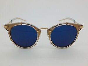 6ae28214fc New Christian Dior Homme 0196S 20M KU Gold Blue 48mm Sunglasses