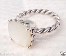 MOTHER OF PEARL Authentic PANDORA White ELEGANT SINCERITY Silver RING 9/60 NEW