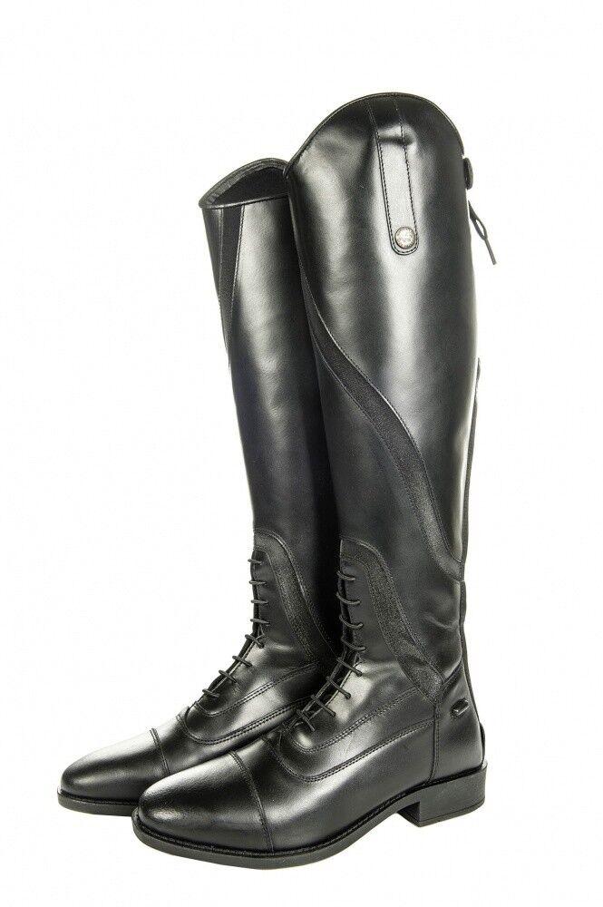 Stivali da Donna MONTALA Gijón lungo lunghezzastretta larghezza HKM Nero Nuovo