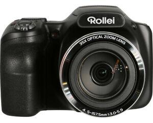 Rollei POWERFLEX 350 WIFI BLACK Bridgekamera Digitalkamera 35x opt. Zoom NEU OVP