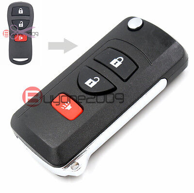 Modified Folding Flip Remote Key Shell Case Fob 3Button for Nissan Quest Murano