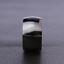 Anello-Fede-Fascia-Uomo-Donna-Unisex-Acciaio-Inox-Coppia-Nero-Black-Doppio-11-mm miniatura 5