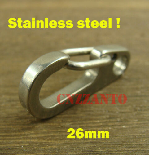 """10pcs Stainless steel Quick Link Carabiner Spring Snap Hook Clip Paragliding 1/"""""""