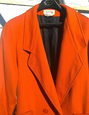 NICE Women's Hand Tailored in USA Wool Winter Coat Cassidy Size 12 Lined Orange