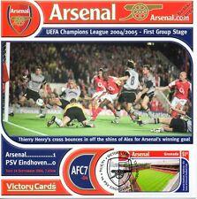Arsenal 2004-05 PSV Eindhoven (Henry & Alex og) Football Stamp Victory Card #407