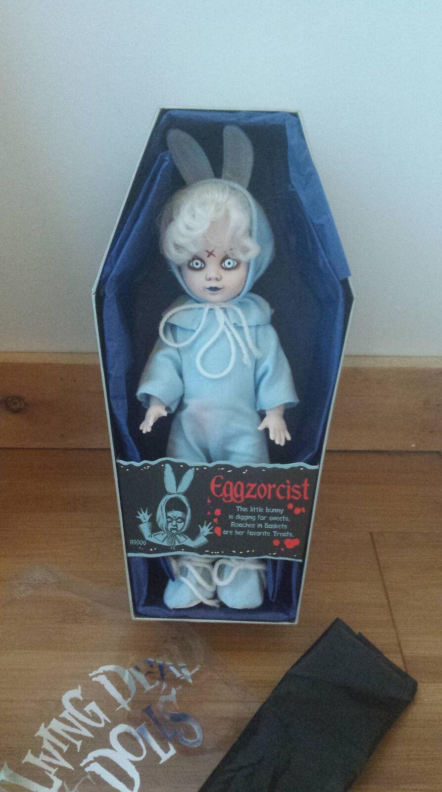 Living Dead Dolls Comic-Con Azul Eggzorcist Muñeca-firmado