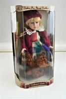 Collectors Choice Bisque Porcelain Doll W/ Bear Y394324-1aa