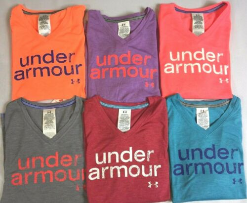 Girl/'s Youth Under Armour Heat Gear Layered-Look V-Neck Shirt