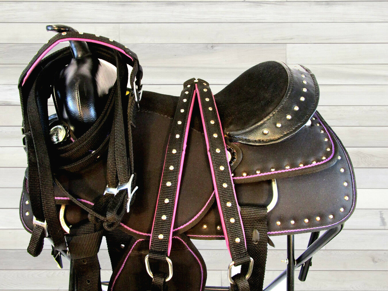 15  16 BLING SHOW PURPLE SYNTHETIC LIGHT WEIGHT WESTERN SADDLE BARREL TRAIL  save on clearance
