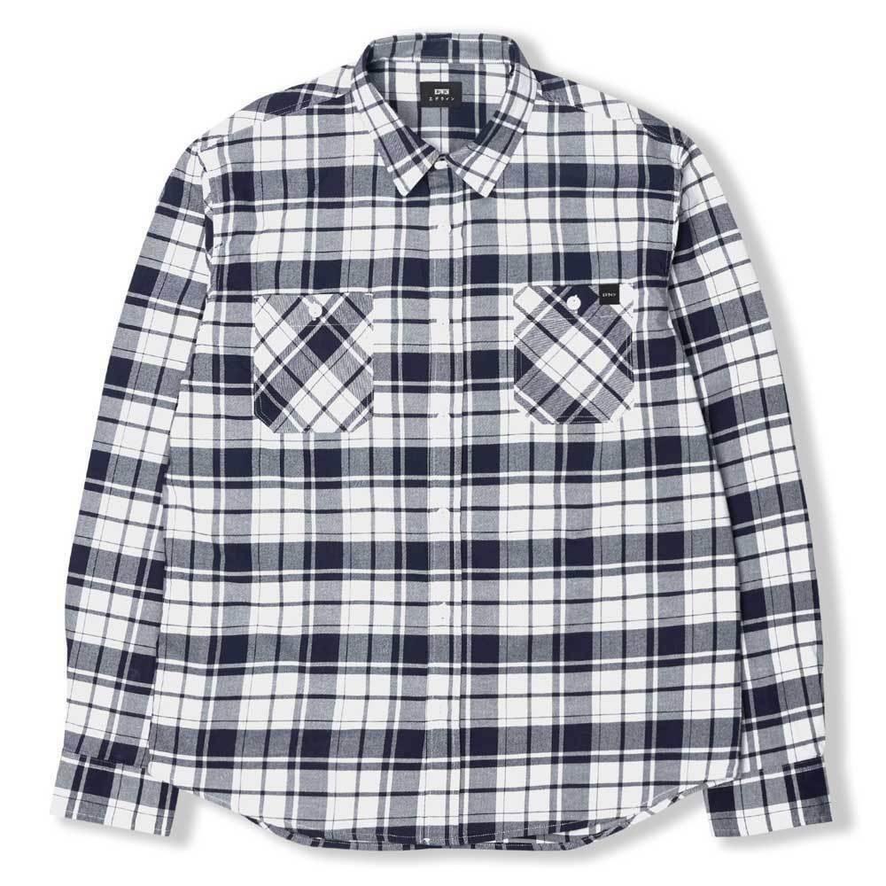 Edwin camicia di Lavoro-Blu Scuro Bianco