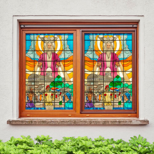 Details about  /3D Religious Pigeon ZHUA295 Window Film Print Sticker Cling Stained Glass UV