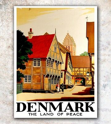 "Denmark Art Travel Poster Wall Decor Print 12x16"" A490"