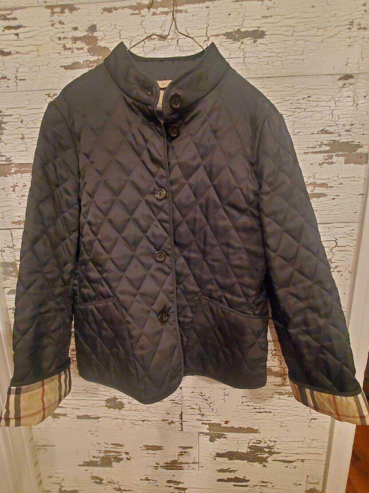 Burberry Jacket Medium Quilted Women's Black - image 1