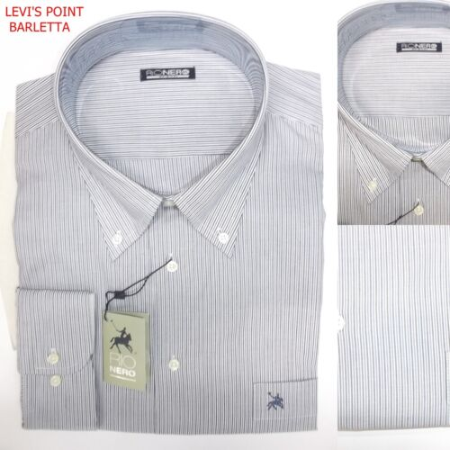 camicia da uomo taglie forti 3xl xxxl 4xl regular fit a manica lunga in cotone