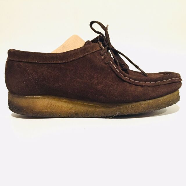 d8c721bc4 Clarks Wallabee Dark Brown Suede Leather Lace Up Shoes Women s Size 6 M  78984