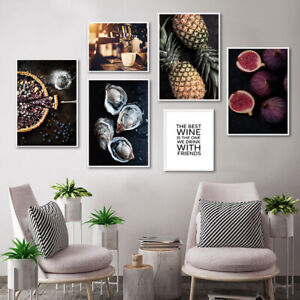 Coffee Drink Food Art Canvas Poster Print Dining Room Kitchen Wall Decoration Ebay