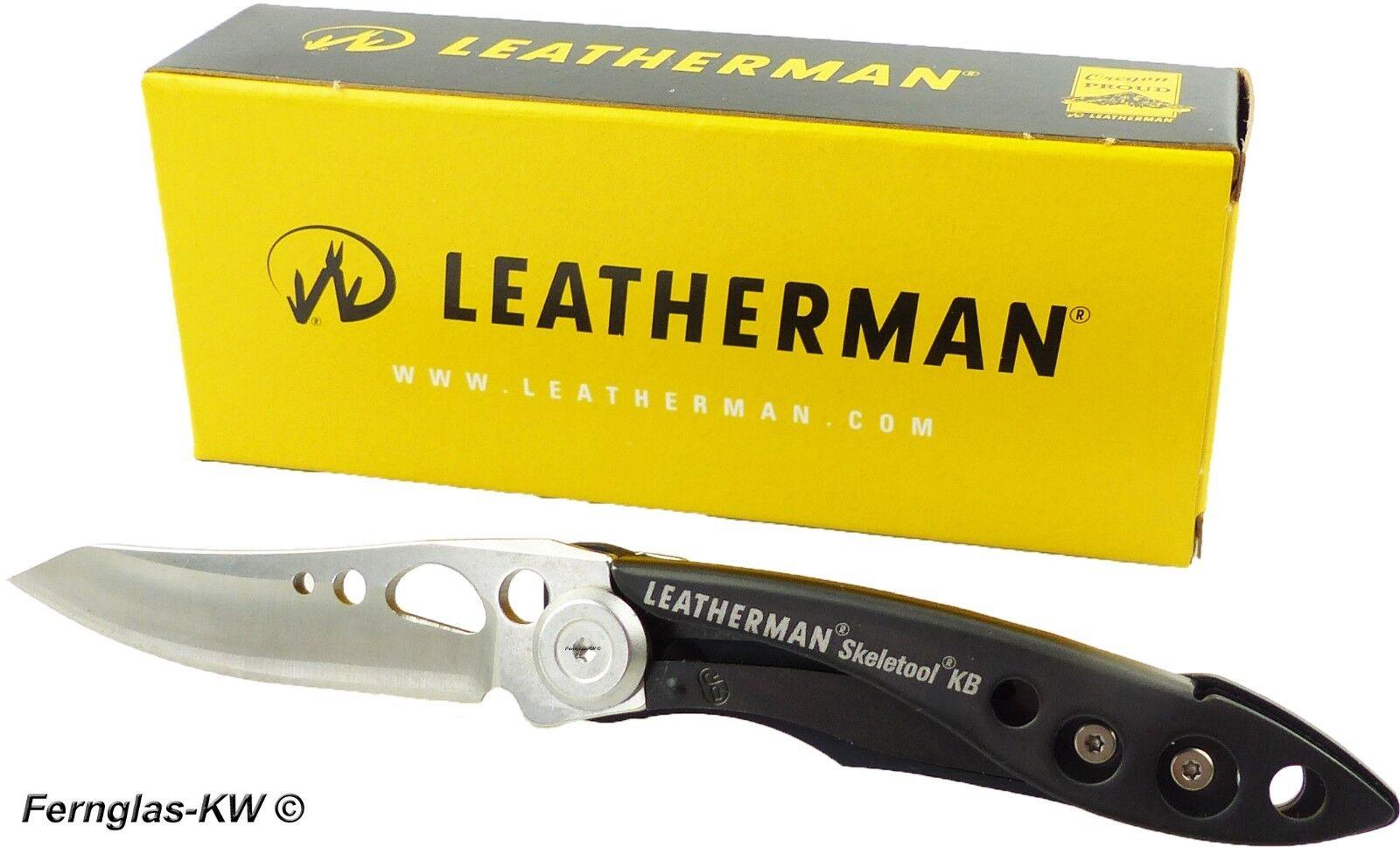 Leatherman Outdoor Taschenmesser SKELETOOL KB in black mit glatter Klinge