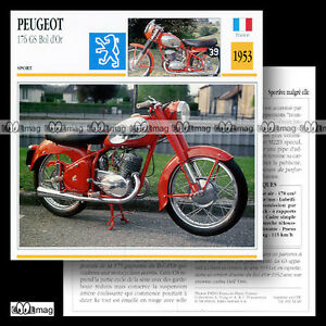 032-20-PEUGEOT-GS-176-amp-175-BOL-D-039-OR-1953-Fiche-Moto-Sport-Motorcycle-Card