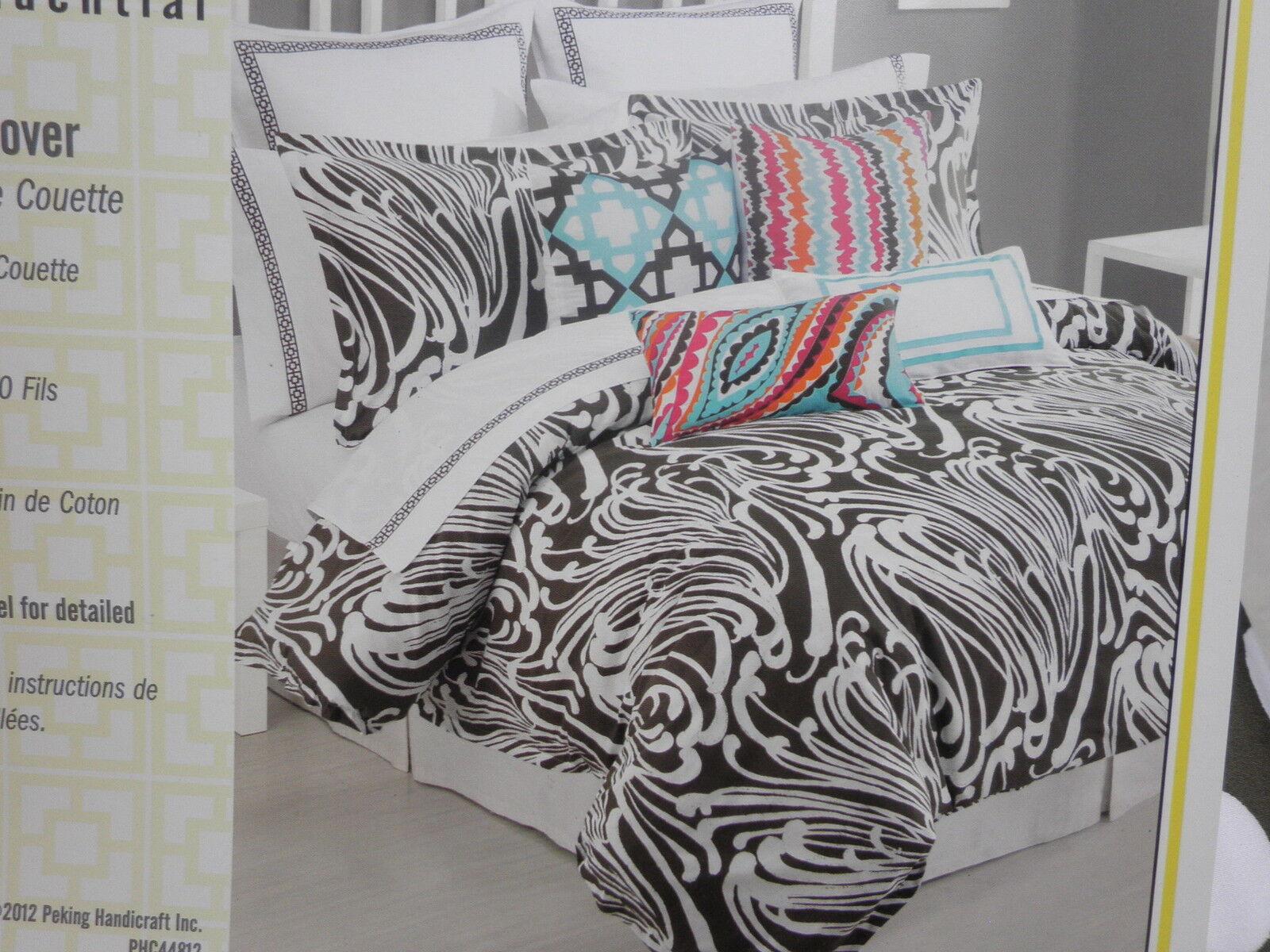 Trina Turk Seafoam Taupe Queen Duvet Cover 400tc Sateen Ebay