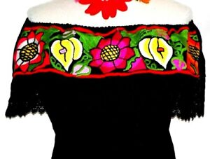 Mexican Blouse Handmade Mexican Blouse Embroidered 5 de mayo