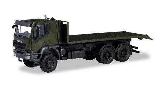 Herpa LKW Iveco Trakker 6x6 Baukipper-LKW orange 309998