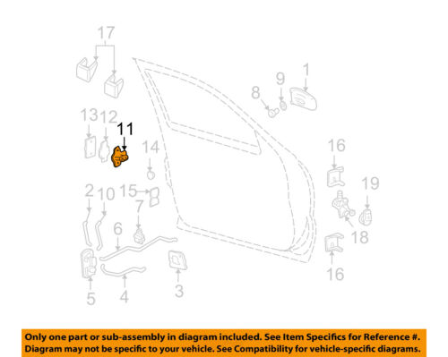 GM OEM Front Door-Striker 16640915