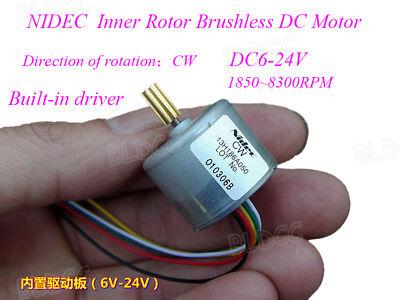 Nidec 13H CW Internal Rotor Mini DC Brushless Motor Built-in driver DC6V-24V 12V