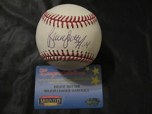 7205f38e1d1 Image is loading Bruce-Sutter-Autographed -Major-League-Baseball-Mounted-Memories-