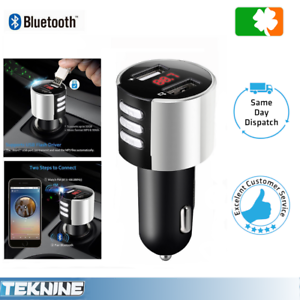 Bluetooth-MP3-FM-Transmitter-Dual-USB-Charger-Handsfree-Car-Kit-iPhone-Android