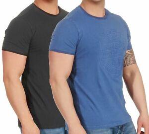 Timezone-Herren-T-Shirt-Herrenshirt-kurzarm-Rundhals-Basic-Shirt-Casual-22-10084