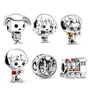 Charm-tipo-Pandora-Harry-Potter-Hermione-Dobby-Ron-treno-bracciale-NO-ORIGINALE