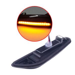 1 Pair(Left+Right) Smoke LED Side Marker Light For BMW E60 E90 E91 E83 E81