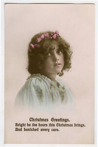c-1912-Cute-Children-Child-CUTE-YOUNG-GIRL-Christmas-photo-postcard