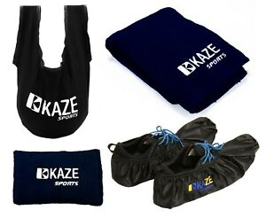KAZE-Bowling-Accessory-Gift-Set-SeeSaw-Grip-Sack-Microfiber-Towel-Clean-Ball-Bag