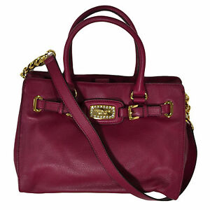 Michael-Kors-Handbag-Hamilton-Jewel-Deep-Pink-38h3xhjt3l-Tote-Ew-Large-Leather