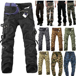 Men-039-s-Army-Military-Camouflage-Cargo-Pants-Casual-Outdoor-Combat-Cotton-Trousers