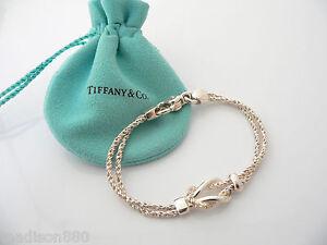 29307d6c7 Tiffany & Co Silver Double Rope Love Knot Bracelet Bangle Rare 7.75 ...
