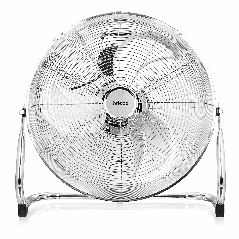 Ventilador Industrial Suelo 3 aspas Metálicas 45cm Oscilación Interna Silencioso