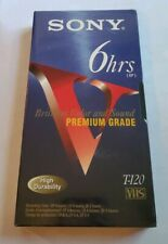 Sony T-120 VE  8 Blank VHS VCR Premium Grade Tapes  T-120 6 hrs NEW Sealed